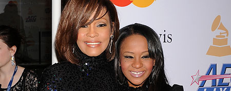 Whitney Houston and daughter Bobbi Kristina (Jeffery Mayer/WireImage)