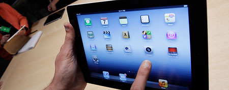Apple's new third-generation iPad. (AP Photo/Paul Sakuma)