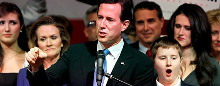 Rick Santorum's son Patrick yawning. (Getty Images)