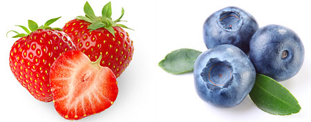 Strawberries and blueberries (both by Thinkstock)