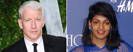 (L-R) Anderson Cooper (Alberto E. Rodriguez/Getty Images); M.I.A. (Jon Kopaloff/FilmMagic)