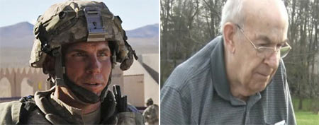 Staff Sgt. Robert Bales. (AP Photo/DVIDS, Spc. Ryan Hallock) / Ohio retiree Gary Liebschner (ABC News)