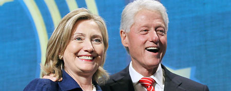 Hillary Rodham Clinton and Bill Clinton (Mario Tama/Getty Images)