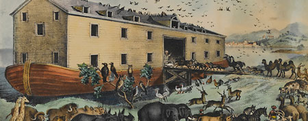 Illustration of Noah's Ark  (Brooklyn Museum/Corbis)