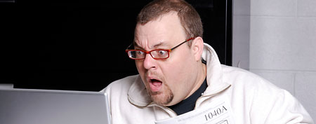 Surprised tax filer (ThinkStock)