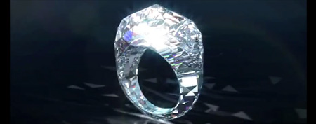 All-diamond ring (via Shawish)