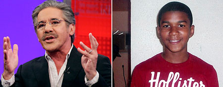 Left: Geraldo Rivera/(AP Photo/Richard Drew)/Right: Trayvon Martin/(AP Photo)