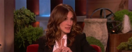 Julia Roberts on 'Ellen' (Dint)