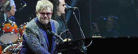 Elton John performs at BankAtlantic Center on March 9, 2012 in Sunrise, Florida. (Photo by Larry Marano/Getty Images)