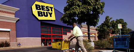 Best Buy store in Glendale, Calif. (AP Photo/Damian Dovarganes)