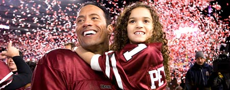 Dwayne 'The Rock' Johnson and Madison Pettis in 'The Game Plan' (Walt Disney Pictures)