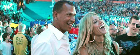 Alex Rodriguez and girlfriend Torrie Wilson (Photo courtesy of WrestleNewz.com)