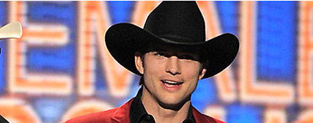 Ashton Kutcher at the Academy of Country Music Awards (AP)