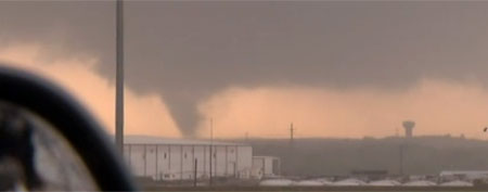 Funnel cloud near Dallas (via NBC/DFW)