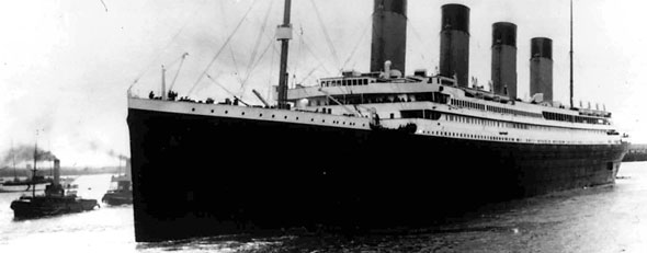 Titanic leaves Southampton, England on her maiden voyage Wednesday, April 10, 1912. (AP photo)