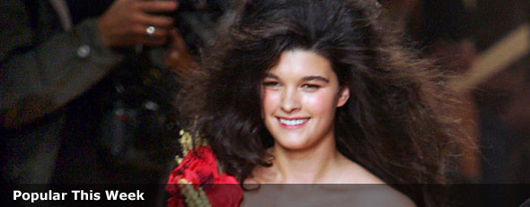 Crystal Renn, a former plus-sized model,  at the presentation of Jean-Paul Gaultier's Spring/Summer ready to wear 2006 show in Paris. (AP Photo/Remy de la Mauviniere, FILE)
