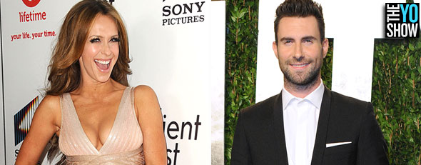 Jennifer Love Hewitt (Photo by Jason LaVeris/FilmMagic); Adam Levine (Photo by Jon Kopaloff/FilmMagic)
