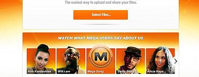 La página de Megaupload antes del cierre
