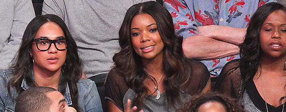 Gabrielle Union was told she can no longer sit in courtside seats when boyfriend Dwyane Wade is playing. (Photo by Noel Vasquez/Getty Images)