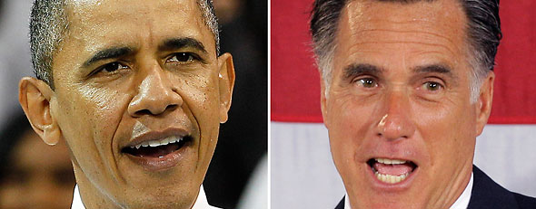 Barack Obama and Mitt Romney (AP)