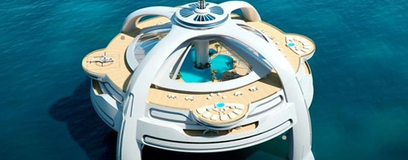 The floating island concept provides all sorts of luxury. Photo: Nigel Gee