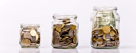 Three jars of cash (Thinkstock)