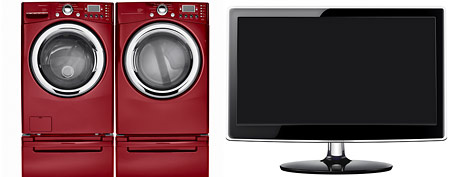 Washer and dryer, television (Thinkstock)