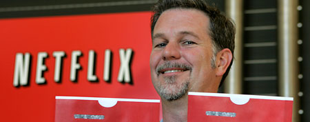 Netflix CEO Reed Hastings at Netflix headquarters in Los Gatos, Calif., on May 16, 2008. (AP Photo/Paul Sakuma, file)