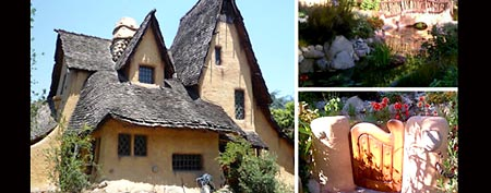 Spadena Witch House in Beverly Hills, Calif. (Photos by Bobak Ha'Eri/Creative Commons and Katherine O./Yelp.com)