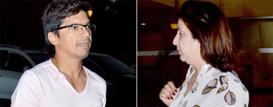 Spotted: Celebs at Sonu Nigam's house