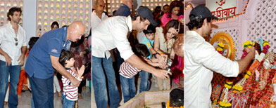 Hrithik celebrates Shivratri with family