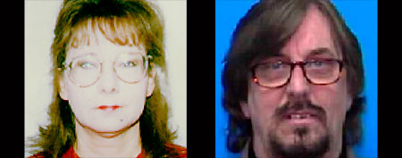 Fugitives Janet and Nelson Grant Hallahan, who were captured after 12 years on the run (AP/U.S. Marshal's Service)