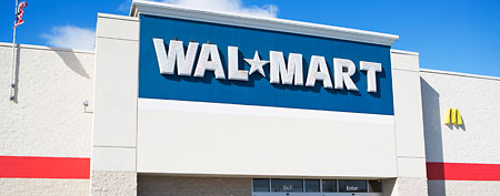 New company tops Fortune 500 list. Here, an entrance to a Wal-Mart store (Corbis)