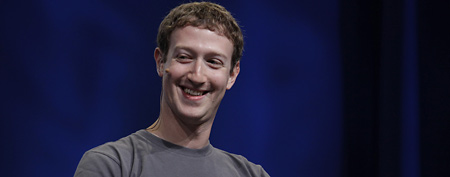 In this Sept. 22, 2011 file photo, Facebook CEO Mark Zuckerberg smiles during the f/8 conference in San Francisco. (AP Photo/Paul Sakuma, File)