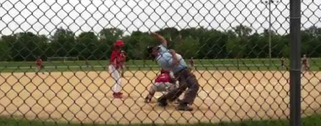 Little League ump's awesome strike call (Yahoo! Sports)