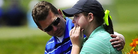 Churchill golfer Laura Inglis after being disqualified for a violation. (Portland Oregonian_