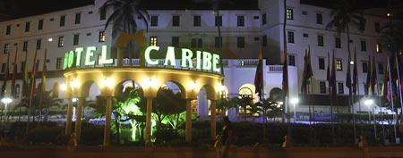The Hotel El Caribe in Cartagena, Colombia. Eleven Secret Service employees are accused of misconduct in connection with a prostitution scandal at the hotel before President Barack Obama's arrival for the Summit of the Americas in April.(AP Photo/Pedro Mendoza)