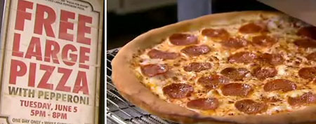 Free pizza offer from Pizza Patron (CBS 11 Dallas)