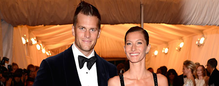Tom Brady and Gisele Bundchen at the Metropolitan Museum of Art on May 7, 2012, in New York. (Kevin Mazur/WireImage)