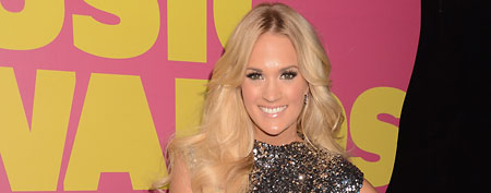 Carrie Underwood's sparkling mini (Getty Images)
