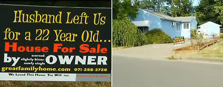 Woman uses story of cheating ex-husband to sell house. (KPTV)