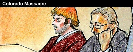 Courtroom sketch of James Holmes (AP/Pool)