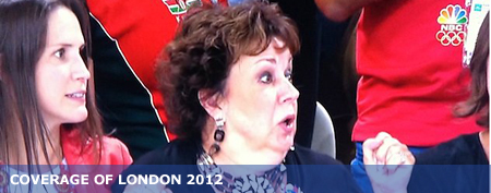 Debbie Phelps reacts to her son's finish (NBC)