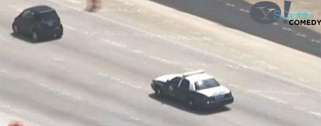"""Tiny car leads police on unusual chase (""""Broken News Daily"""")"""