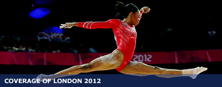 Gabrielle Douglas of the United States of America competes on the balance beam in the London 2012 Olympic Games (Ronald Martinez/Getty Images)