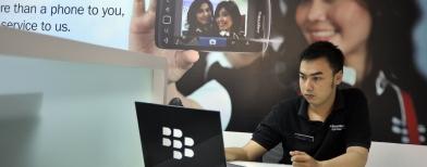 Pusat layanan BlackBerry (Foto: Antara/Andika Wahyu)