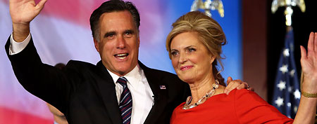 Stories behind the 2012 presidential election. Shown: Mitt and Ann Romney on election night (Justin Sullivan/Getty Images)
