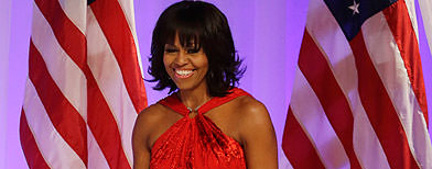 Michelle Obama is First Lady in red