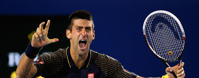 Djokovic makes history at Aussie Open