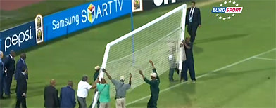 Broken goal disrupts Cup of Nations match